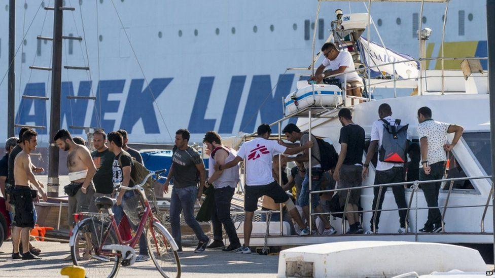 Migrants arrive in Kos (18 August)