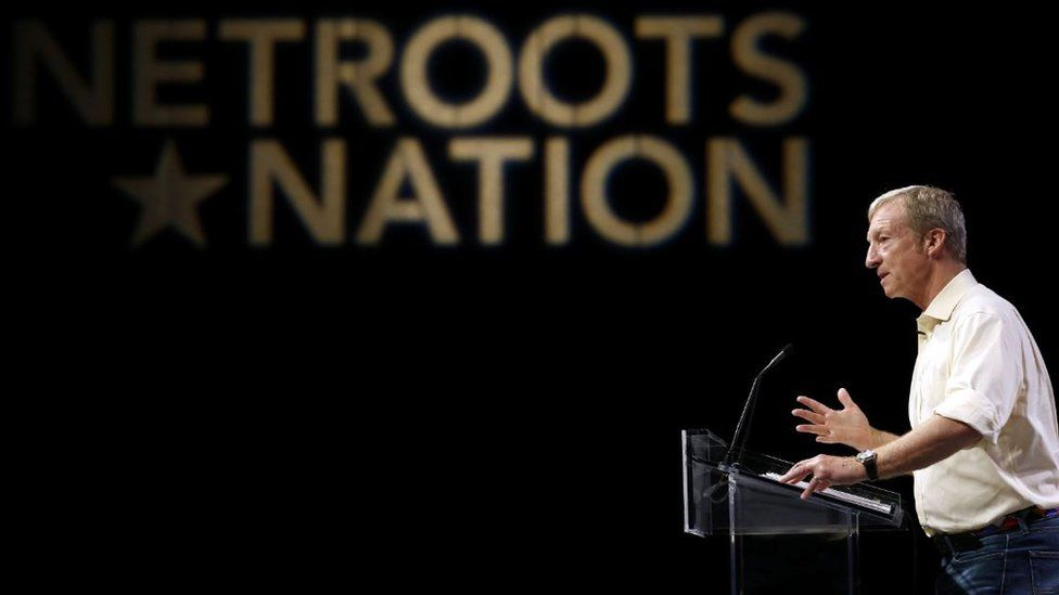 Tom Steyer speaks at the Netroots Nation convention