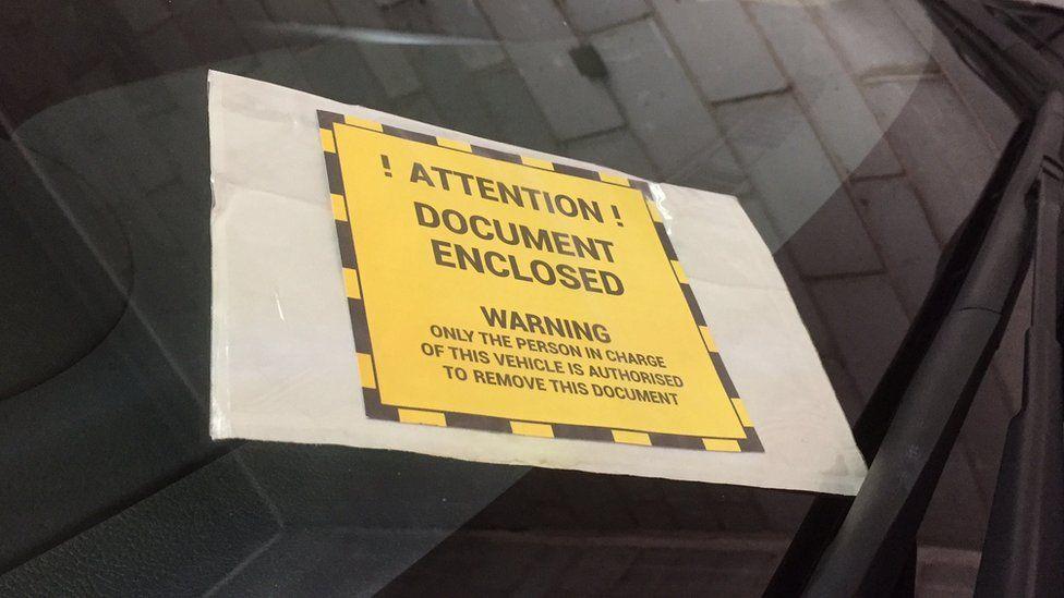 Private parking notice