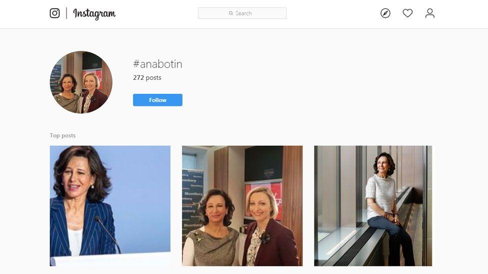 Ana Botín's Instagram