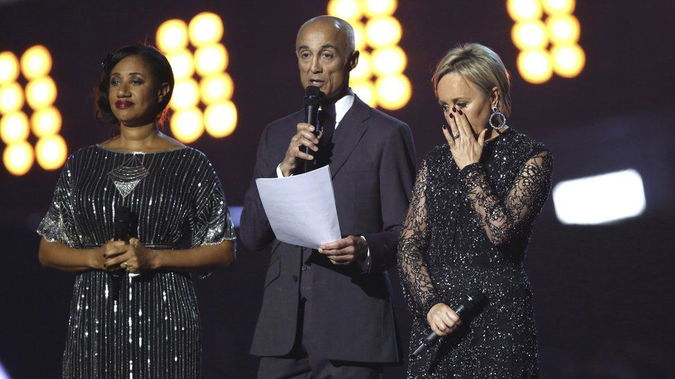 Pepsi DeMacque, Andrew Ridgeley and Shirlie Holliman