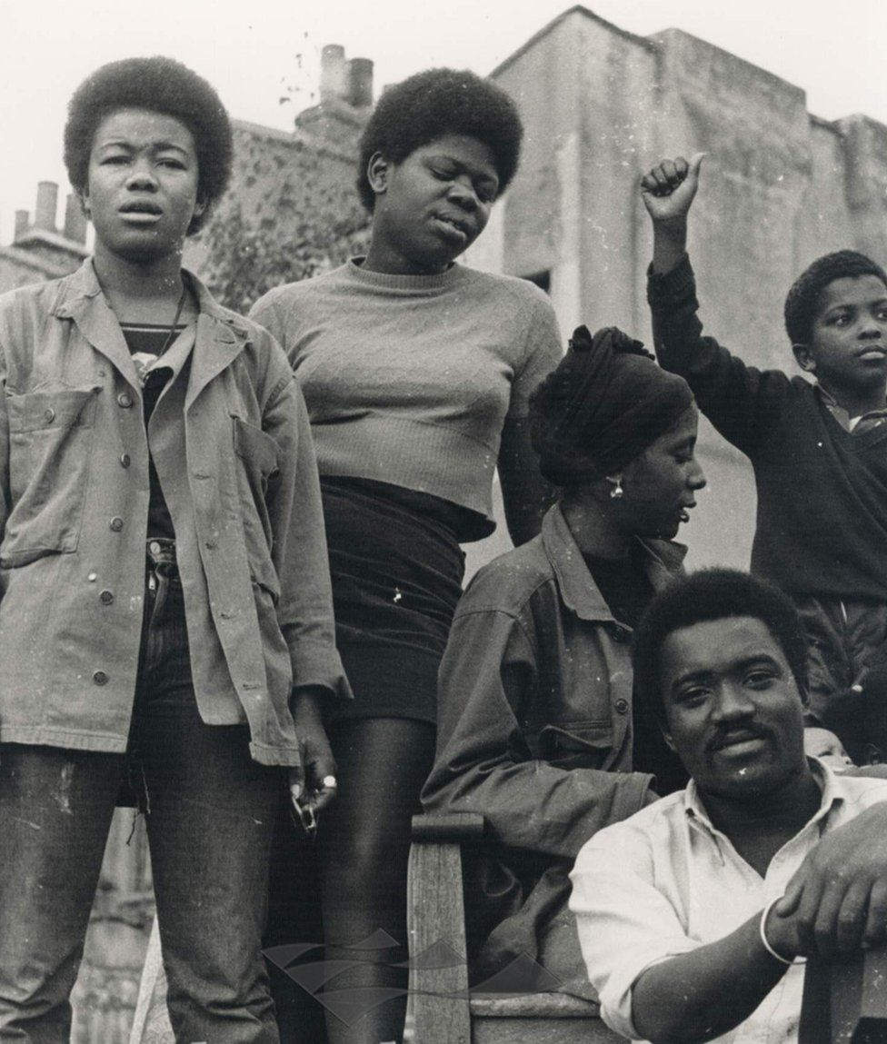 Olive Morris with Black Panther members