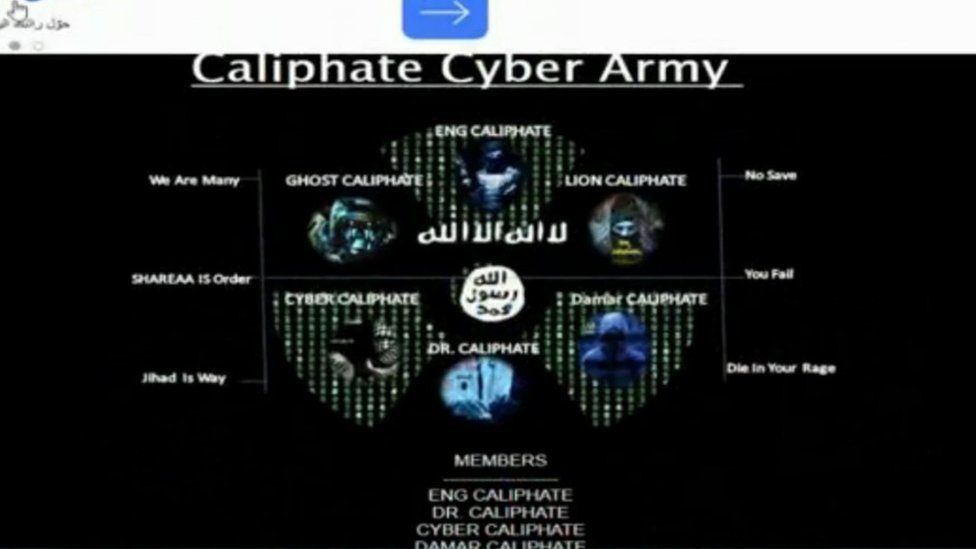 Cyber Caliphate Army front page