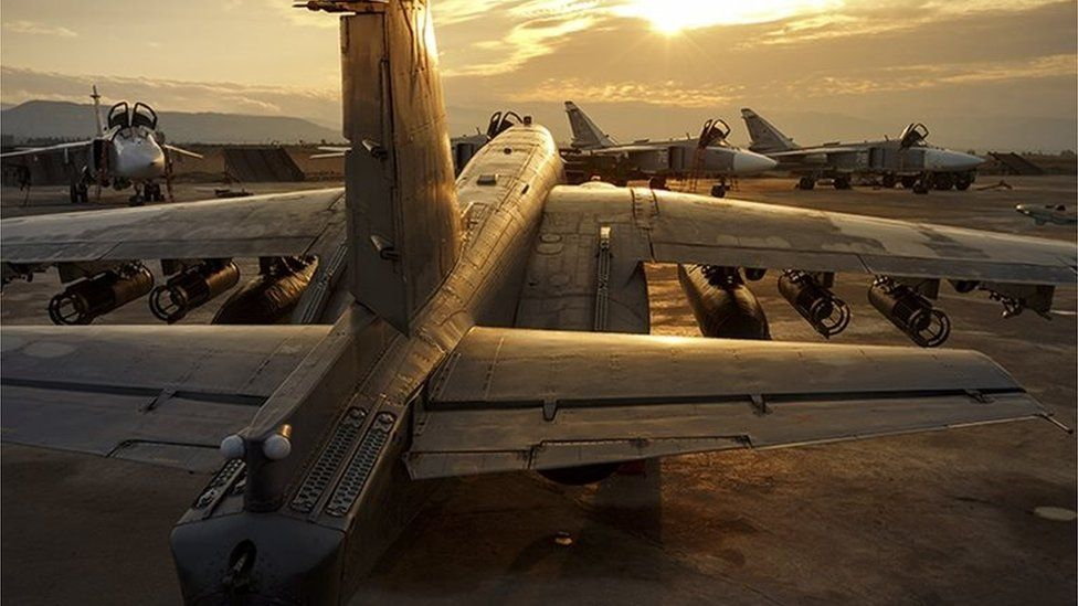 Russian military planes in Syria