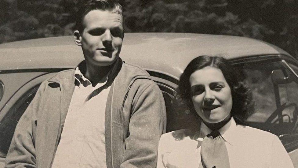 Ann Russell Miller with her husband Richard Miller