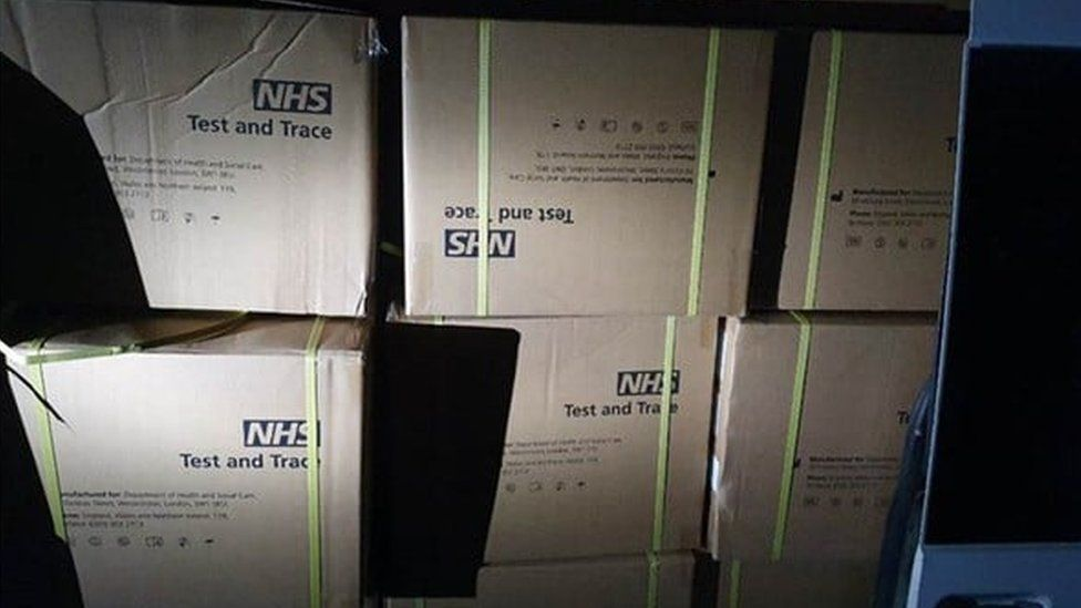 Boxes of covid tests