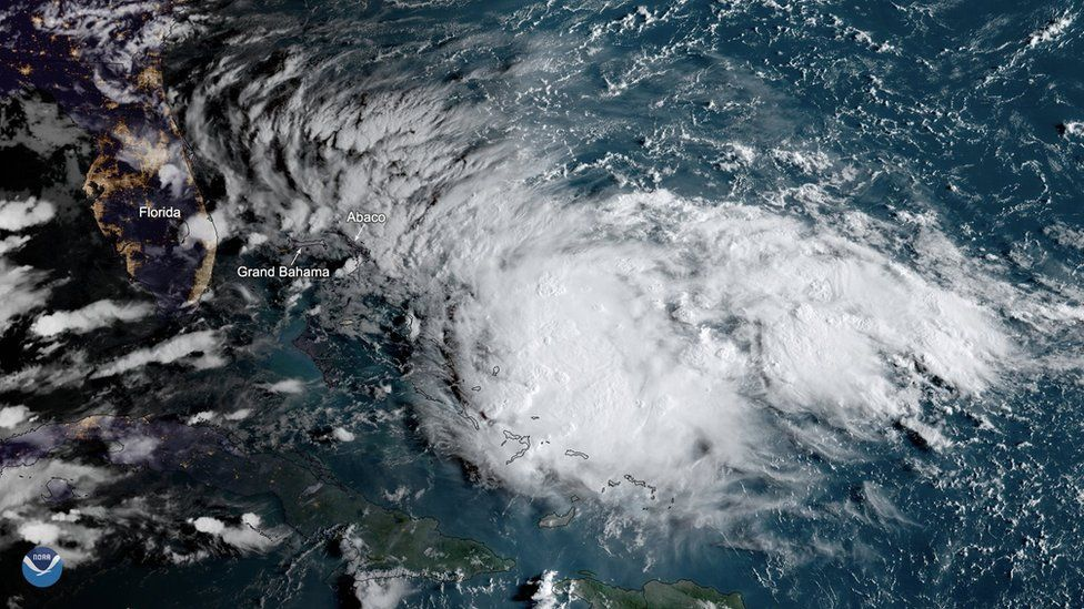 Aerial image of Tropical Storm Humberto