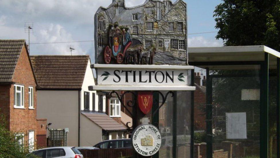 Stilton village sign