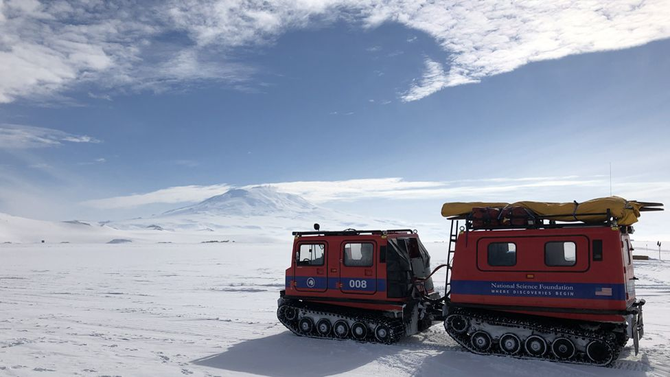 Tracked vehicles in the Antarctic