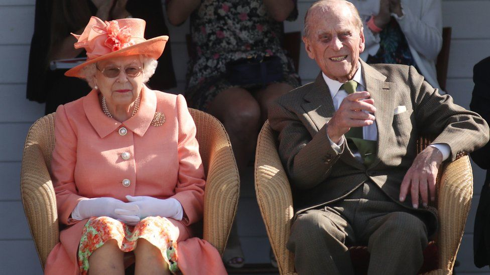 Queen Elizabeth II and The Duke of Edinburgh during the polo at the Guards Polo Club, Windsor Great Park