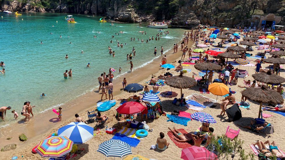 Cala Aiguablava Beach near Girona in Spain