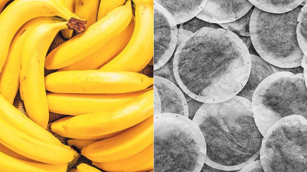 Banana skins and tea bags
