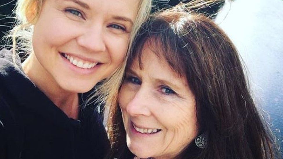 Katie Teasdale and her mother