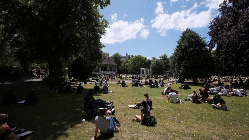 Forbury Gardens before the attack