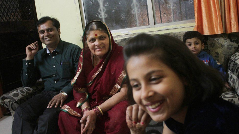 Dr Ganesh Rakh with his mother and daughter