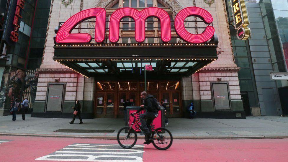 A closed AMC cinema in New York City