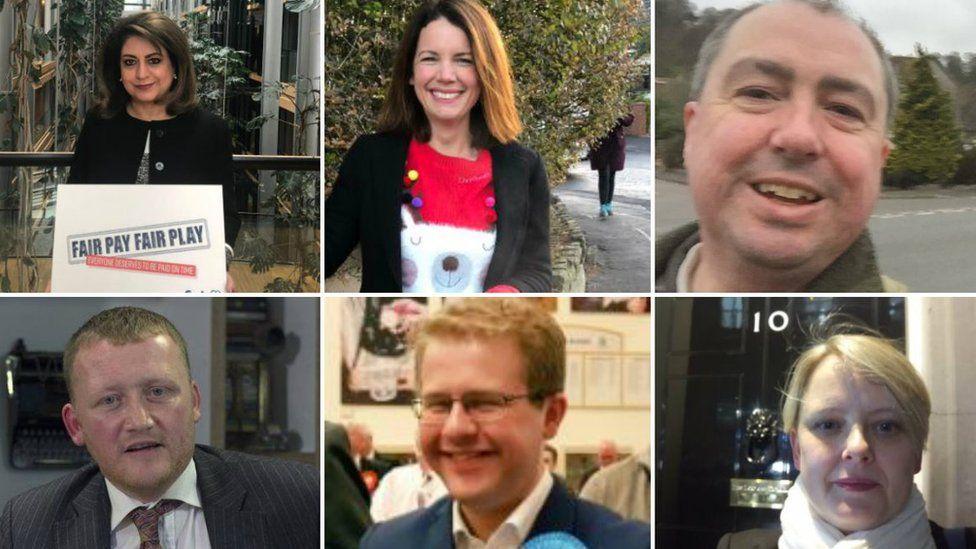 Tory EU election candidates
