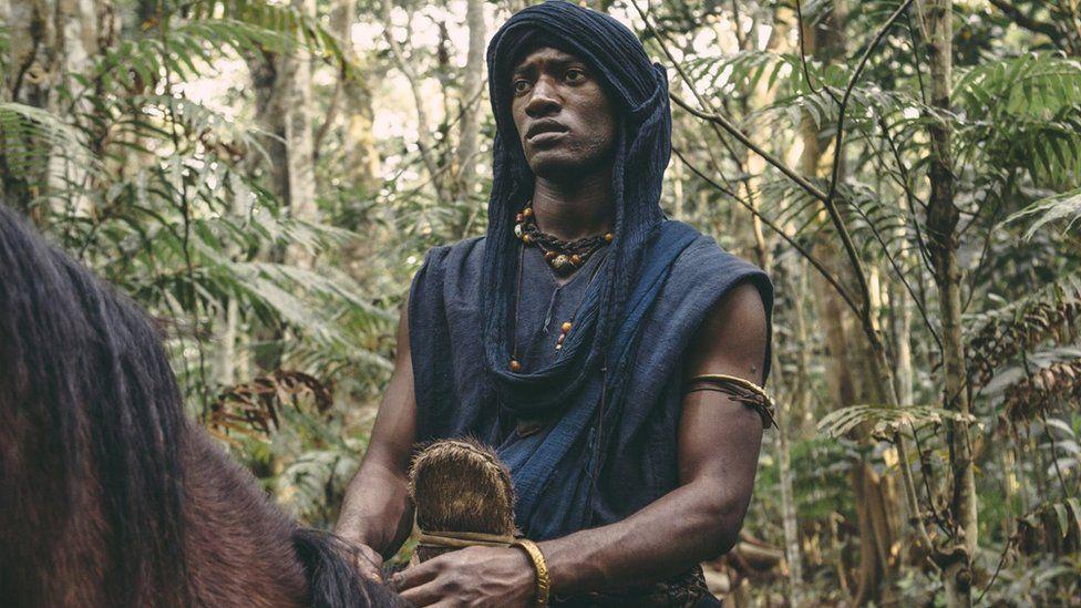 Malachi Kirby as Kunta Kinte in Roots