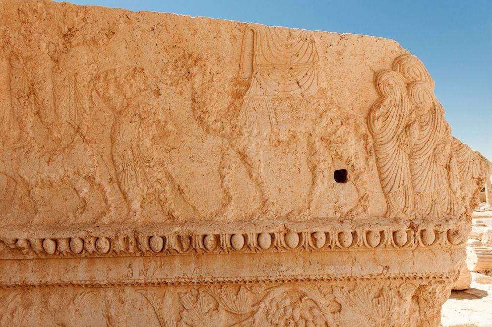 Procession of women, Palmyra