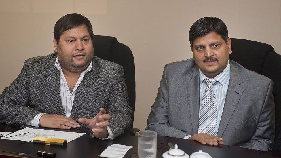 Indian businessmen, Ajay Gupta and younger brother Atul Gupta at a one on one interview with Business Day in Johannesburg, South Africa on 2 March 2011