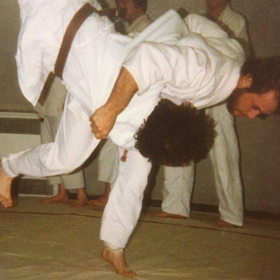 Steve Gilbert doing judo