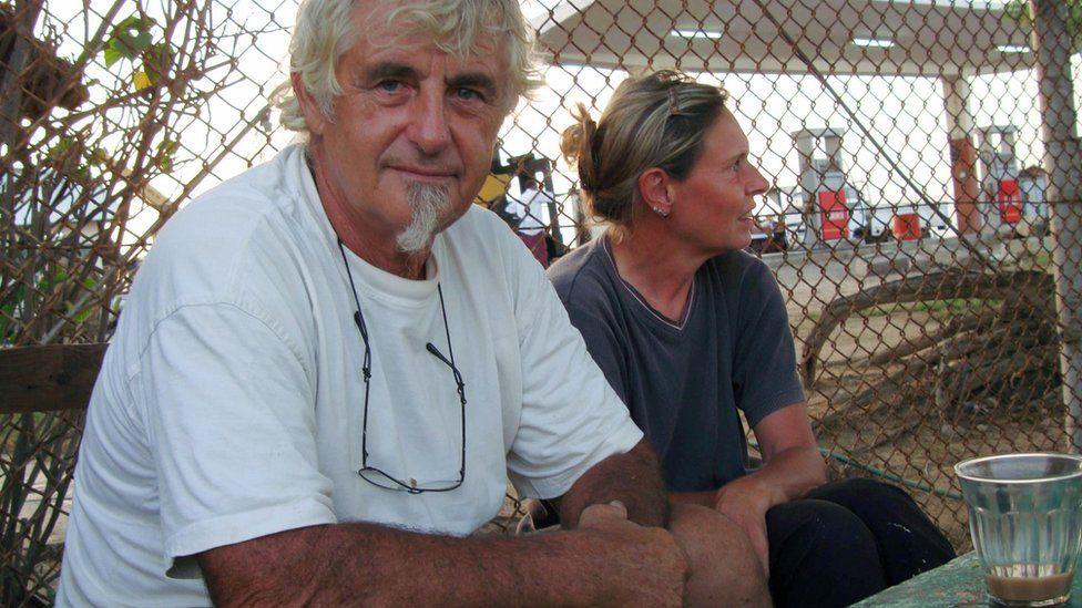 Jurgen Kantner and his wife Sabine pictured in Berbera, Somaliland, in 2009
