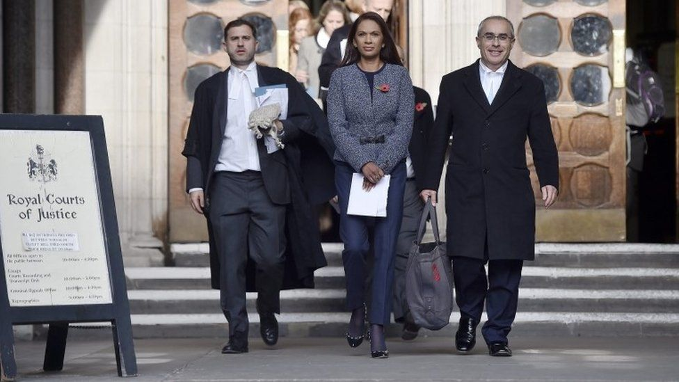 Gina Miller at the High Court