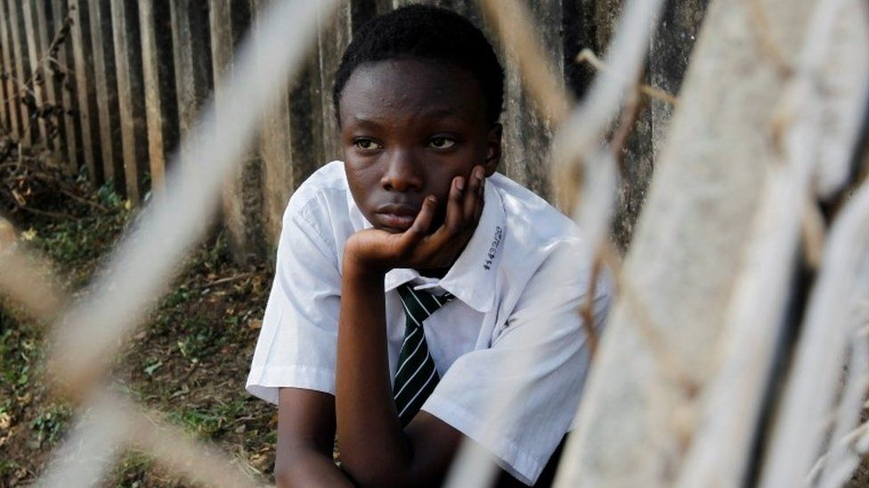 A student looks on at the basketball court at the State House Girls High School in Nairobi following a directive by the Kenyan government to suspend lessons in schools as a preventative measure against coronavirus disease (COVID-19) fears, in Nairobi, Kenya March 16, 2020