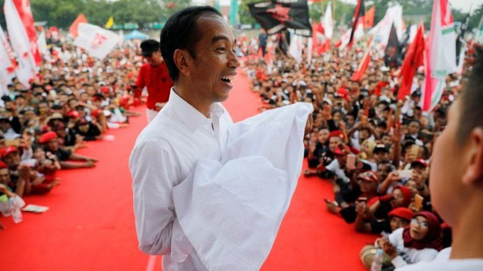 Indonesia's president and presidential candidate for the next election Joko Widodo