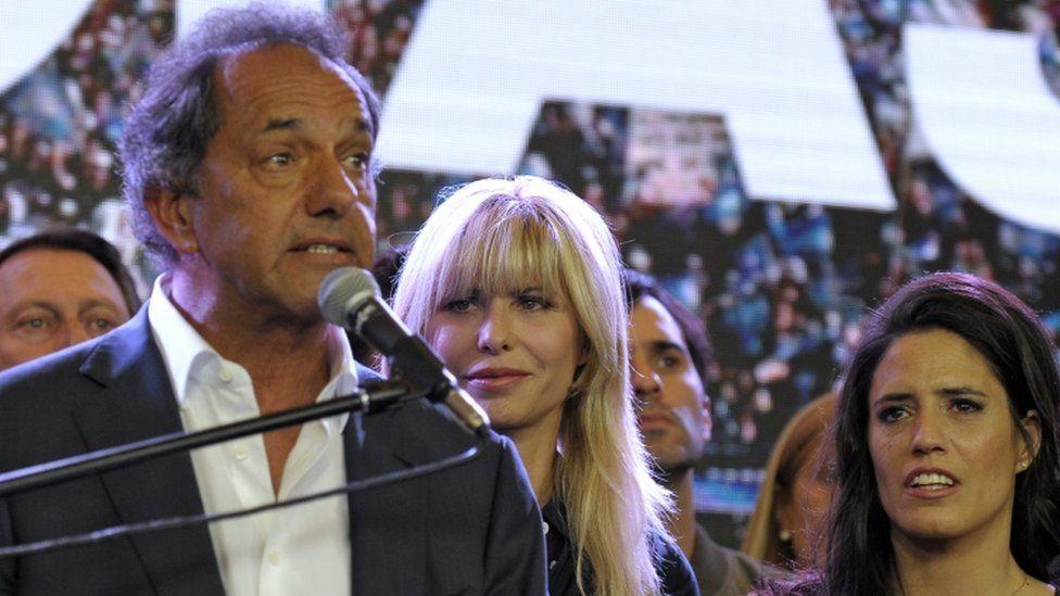 Daniel Scioli makes concession speech - 22 November