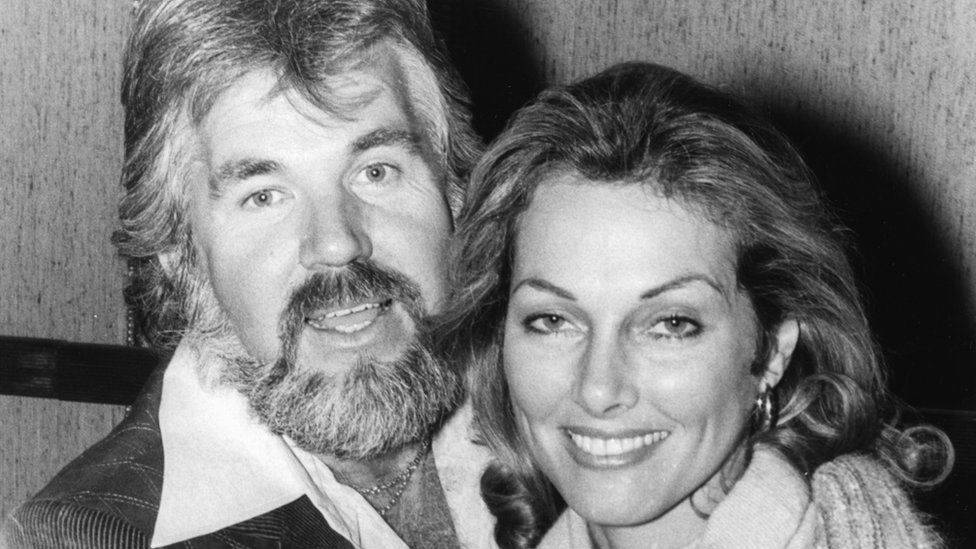 Kenny Rogers and then wife Marianne Gordon in 1977