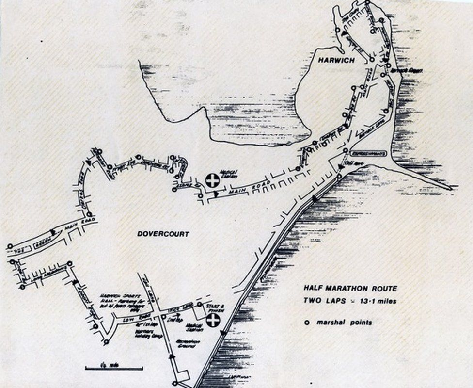 The old route of the Harwich Half Marathon