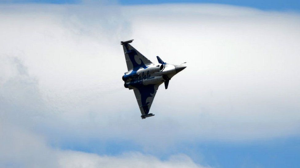 A Dassault Aviation Rafale jet at the 2017 International Paris Air Show