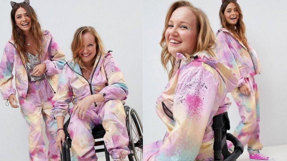 Chloe Ball-Hopkins modelling for Asos