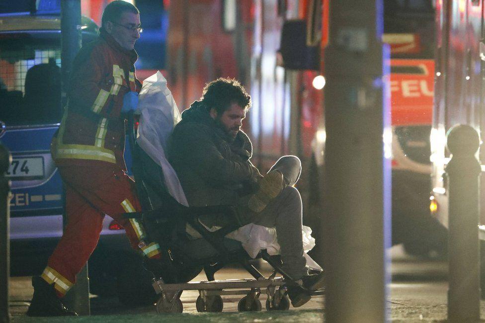 An injured man on Breitscheidplatz square, 19 December