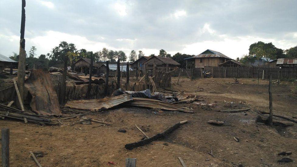Kong Nime destroyed village