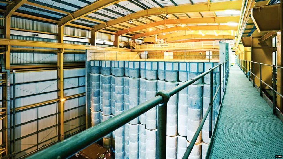 Winfrith Intermediate Nuclear Waste Storage