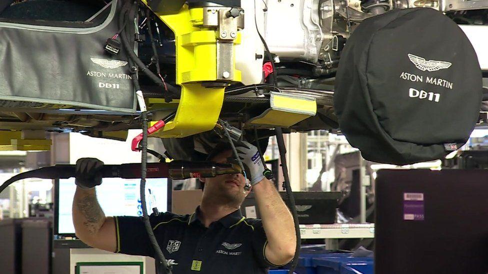 worker in Aston Martin factory