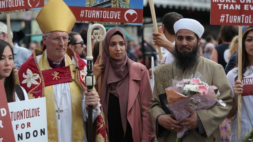 Bishop of Southwark at commemoration
