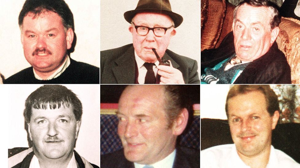The six men who died when UVF gunmen attacked the Heights Bar in Loughinisland