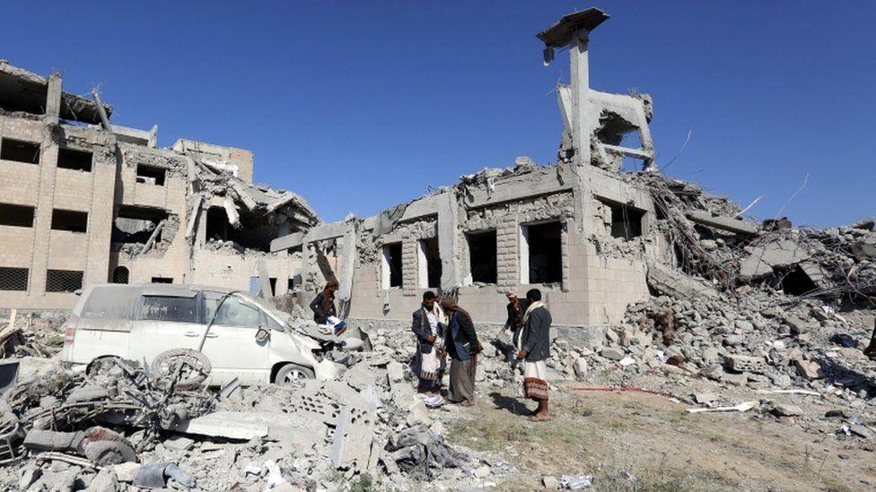 Saudi-led coalition air strike on Dhamar in Yemen, 1 Sept