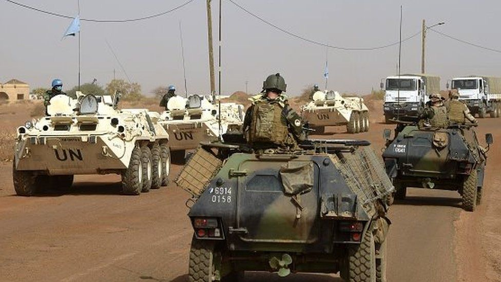 French and UN troops in Mali - 2015