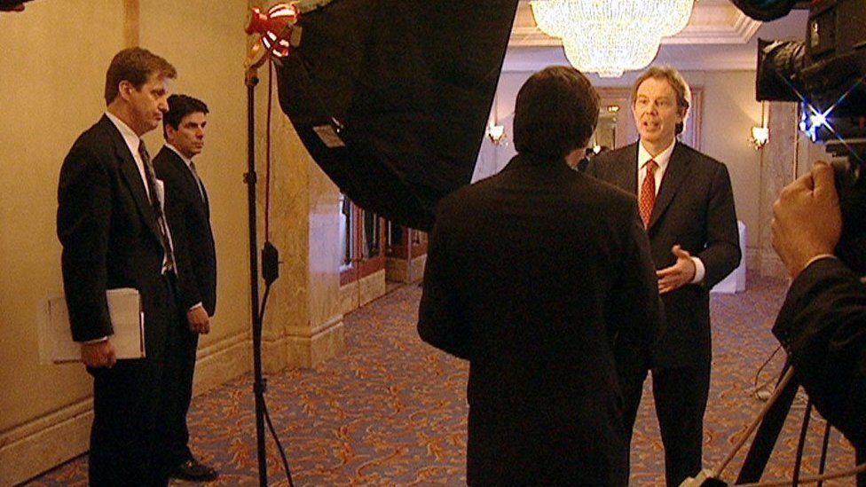 Tony Blair and Alastair Campbell