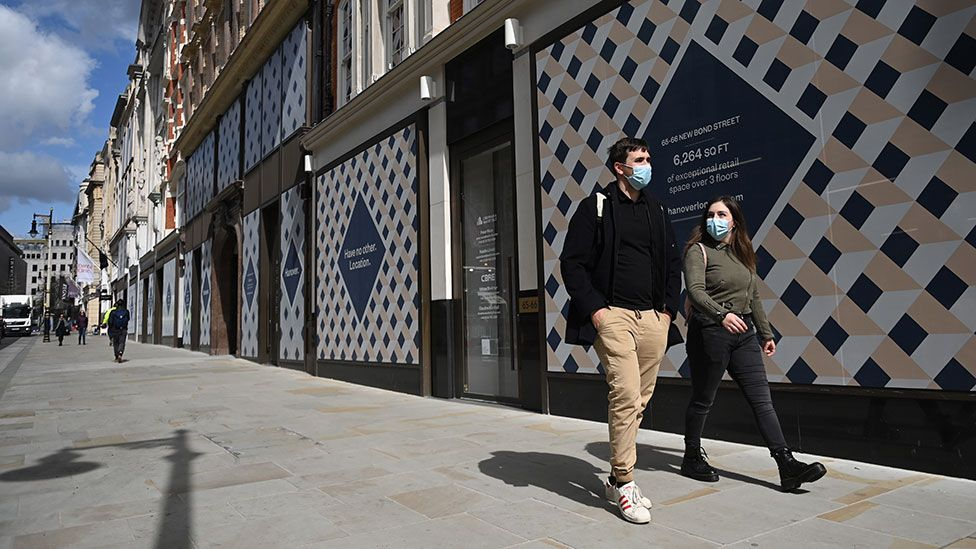Shoppers in London