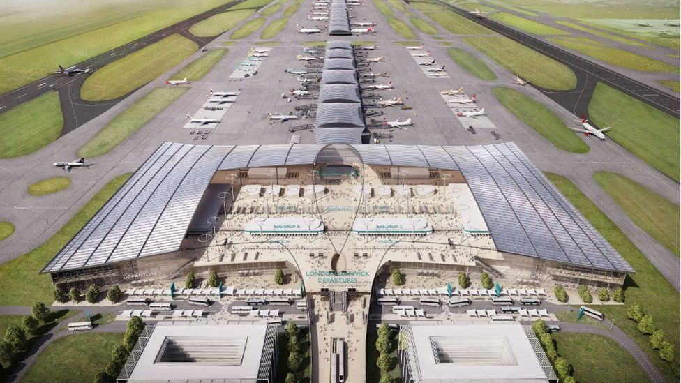 Artist's impression of expansion plans for Gatwick Airport