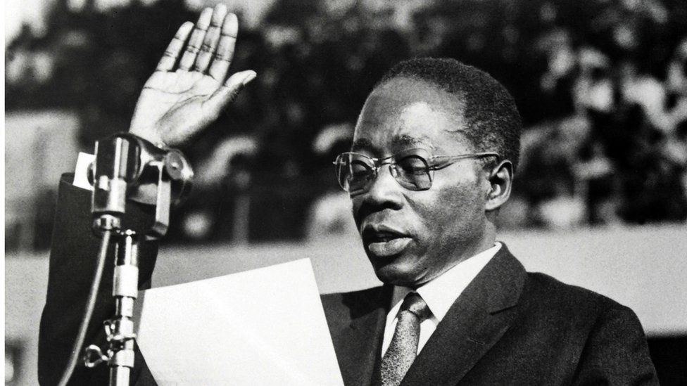 Senegal's past president Leopold Senghor
