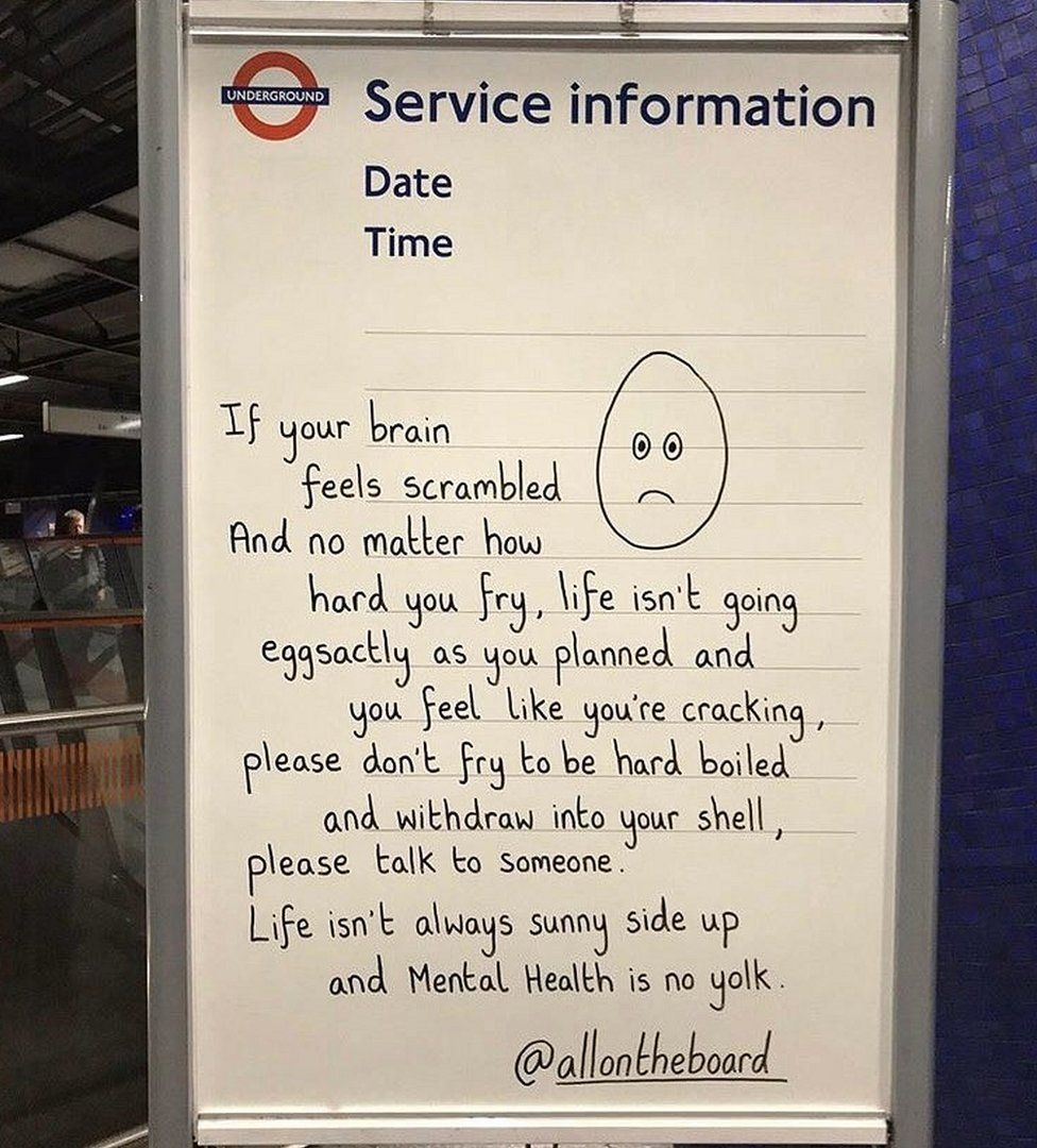 London Tube Whiteboard Messages Make People Less Alone Bbc News