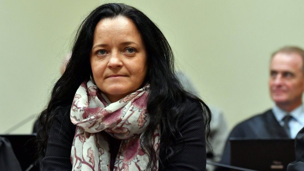 Defendant Beate Zschaepe waits for the continuation of her trial at the higher regional court (Oberlandesgericht, OLG) in Munich, Germany, 12 September 2017.
