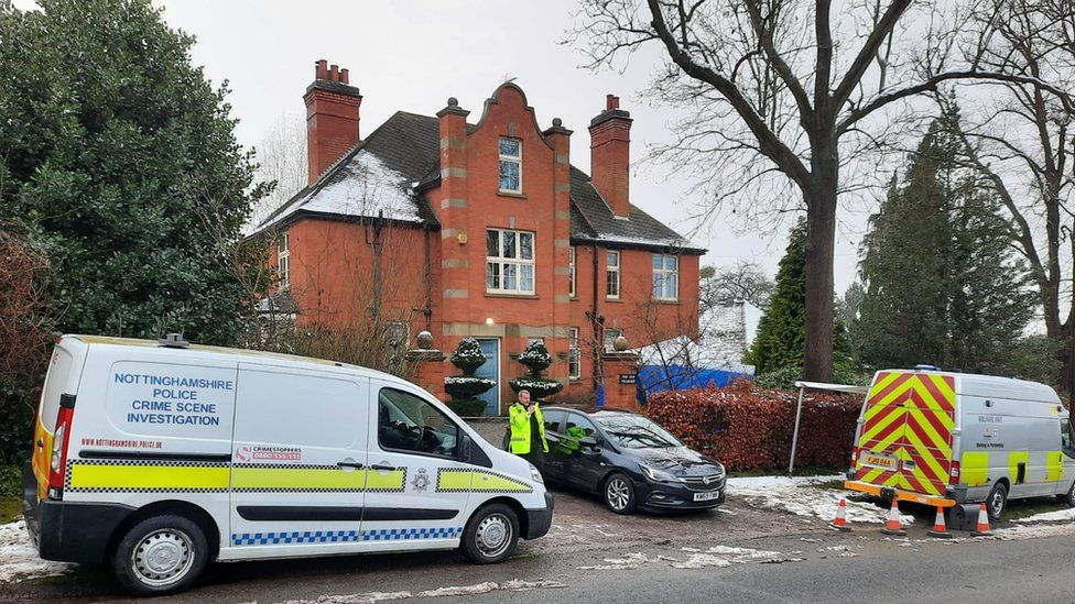House in Halam where Graeme Perks was stabbed