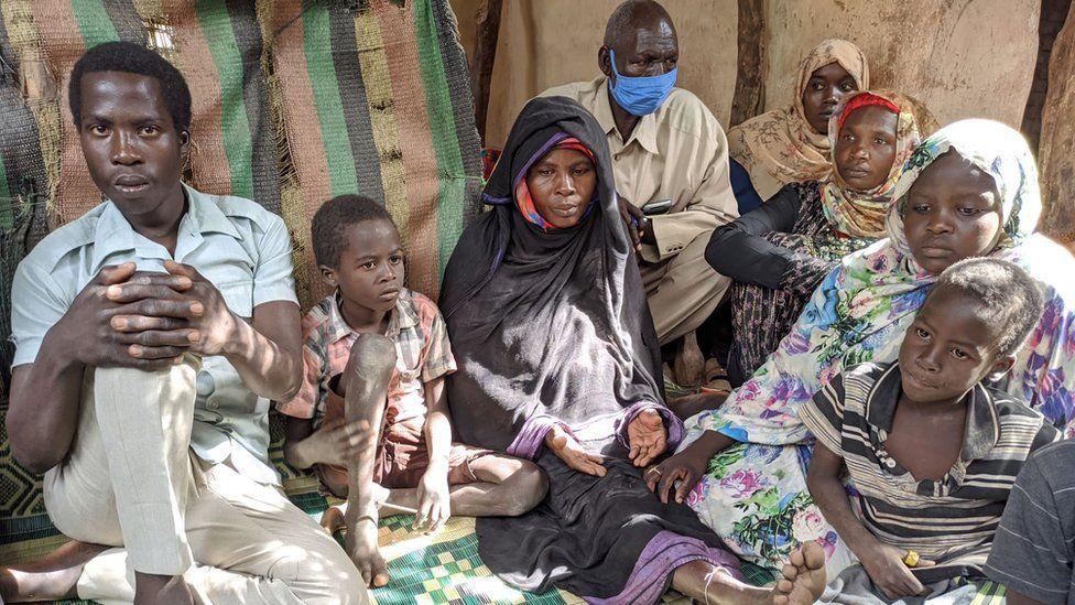 Khadiga Ahmede Ishag and family in Nertiti